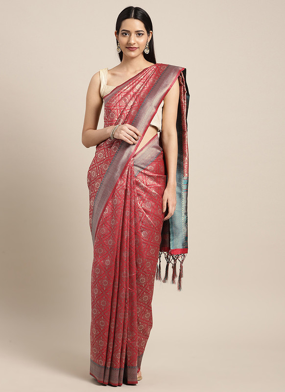 Dial N Fashion Red  Designer Classic Party Wear Saree