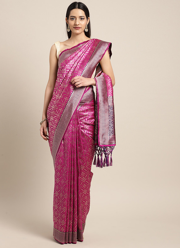 Dial N Fashion Pink  Designer Classic Party Wear Saree