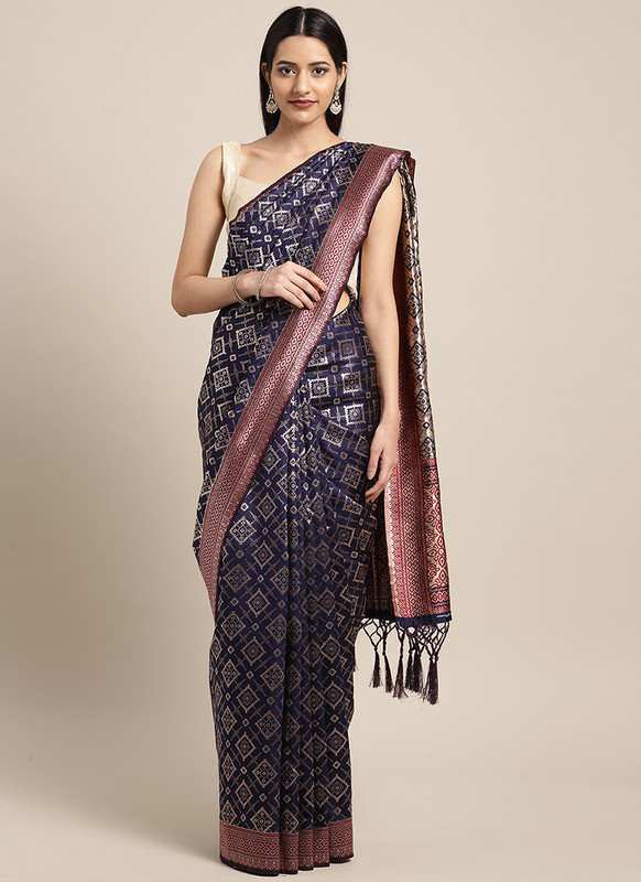 Dial N Fashion Navy Blue  Designer Classic Party Wear Saree