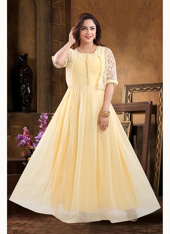 Dial N Fashion Yellow  Heavy Designer Readymade Salwat Suit