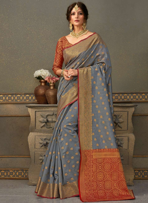 Dial N Fashion Handloom Silk Zari Weaving Traditional Saree