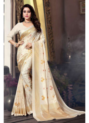Dial N Fashion Sangam Manipuri Silk Graceful Wedding Saree