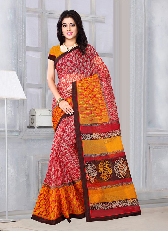 Dial N Fashion Sangam Sunehari Kota Graceful Casual Wear Saree