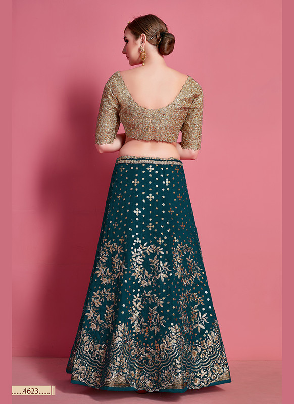 Sareetag Arya Designs Sea Green Sensual Party Wear Lehenga Choli