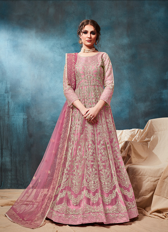 Twisha Pink Anarkali Suit For Wedding