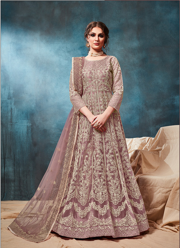Twisha Wine Anarkali Suit For Wedding