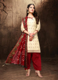 Twisha Beige Anarkali Suit For Wedding