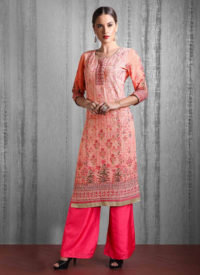 Dial N Fashion Mix Print Heavy Designer Party Wear Readymade Suit