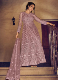 Dial N Fashion Peach Heavy Designer Party Wear Readymade Suit