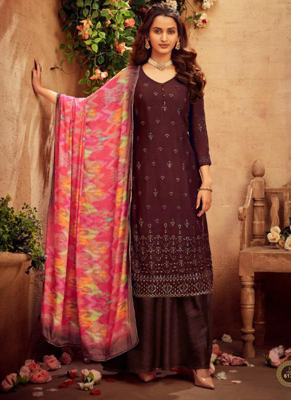 Hotlady Brown Party Wear Salwar Suit
