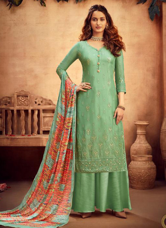 Hotlady Green Party Wear Salwar Suit