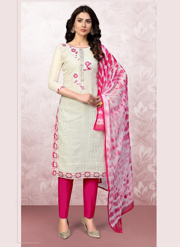 Model Cotton Churidar Salwar Suit