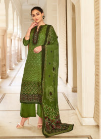 Green Color Party Wear Salwar Suit