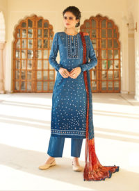 Blue Color Party Wear Salwar Suit