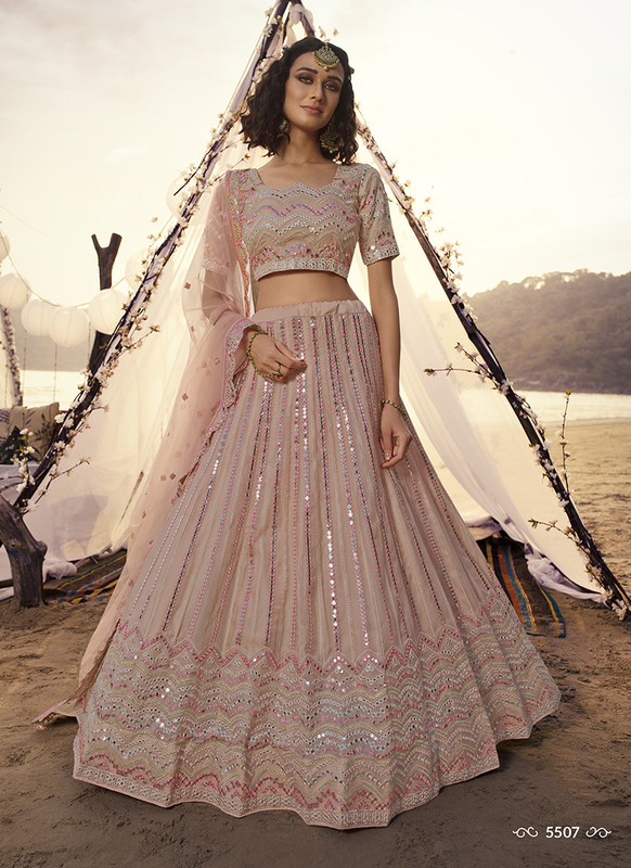 Arya Design Dial N Fashion Peach Euphoria Lehenga Choli