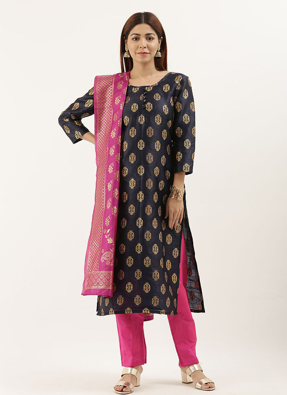 Designer Party Wear Jacquard Salwar Suit