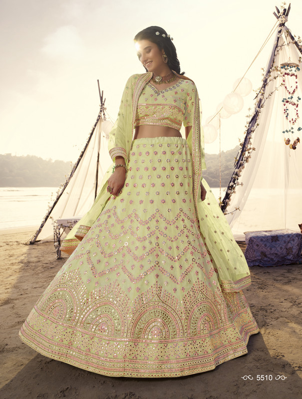 Arya Design Dial N Fashion Euphoria Light Yellow Lehenga Choli