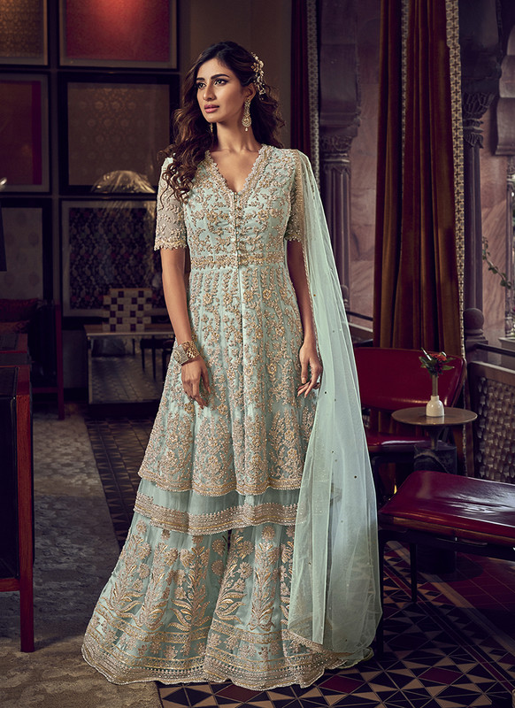 Designer Party Wear Salwar Suit Blue
